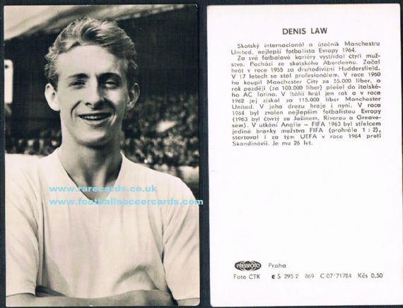 1965 Denis Law Pressfoto trade CZECH